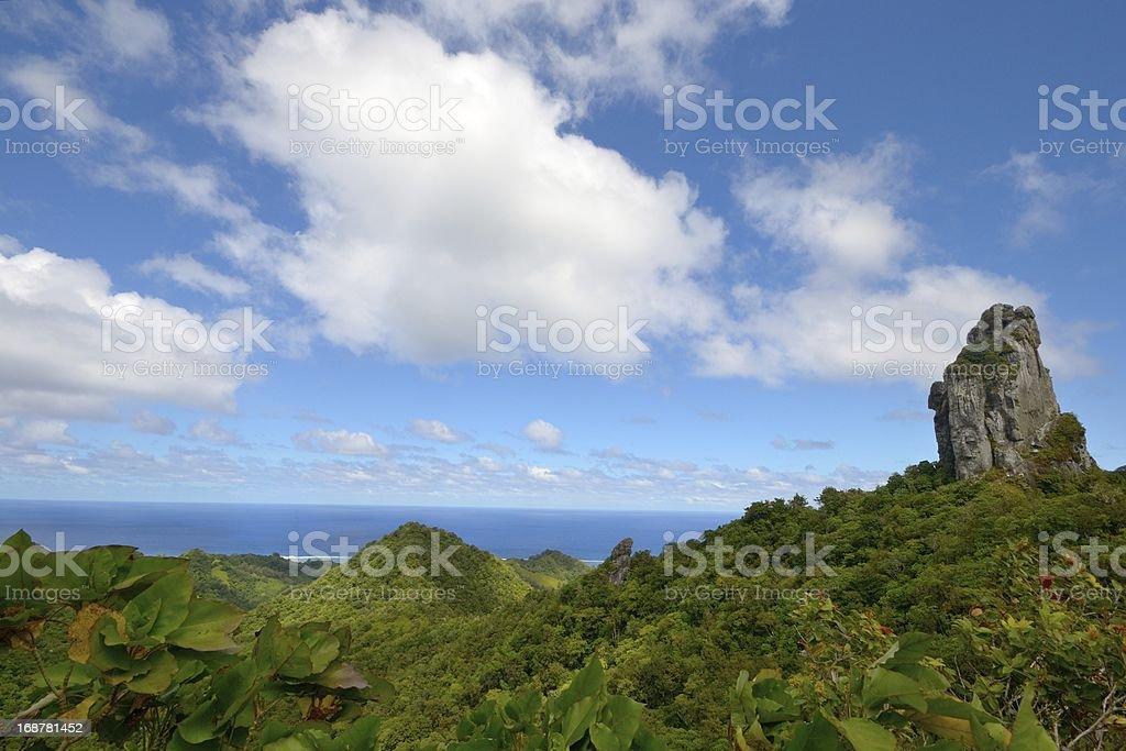 The Needle, Rarotonga stock photo