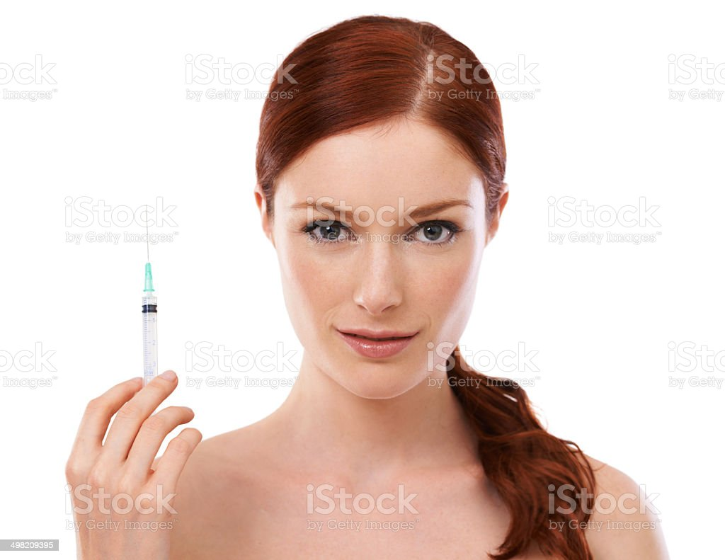 The needle to perfection stock photo