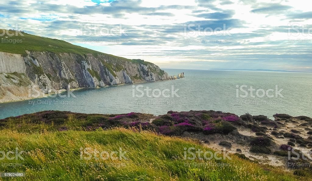 The Needles - Alum Bay - Isle of Wight stock photo