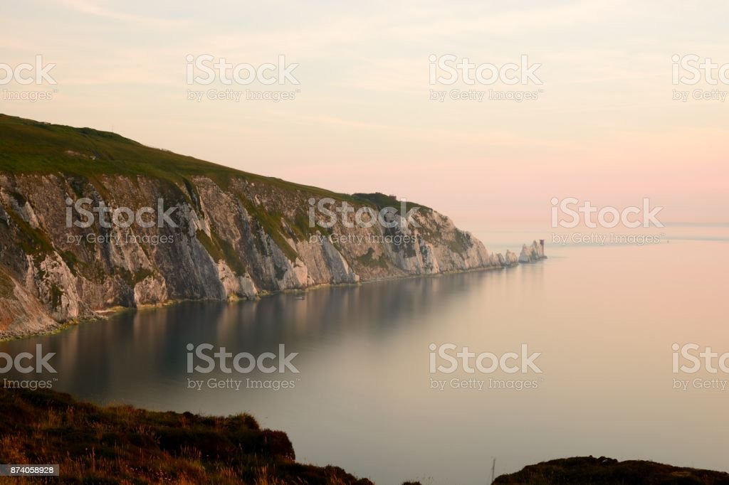 The Needles in the Isle of Wight stock photo