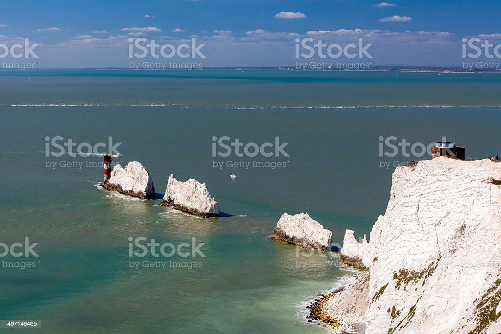 The Needles Isle Of Wight England UK stock photo