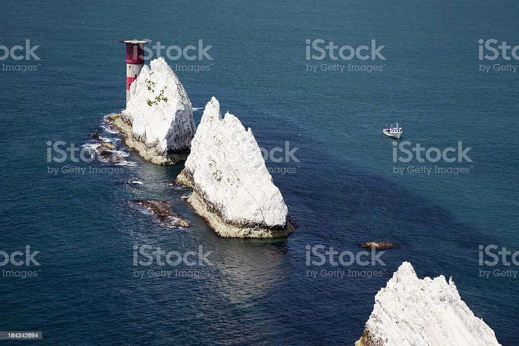 The Needles, Isle of Wight stock photo