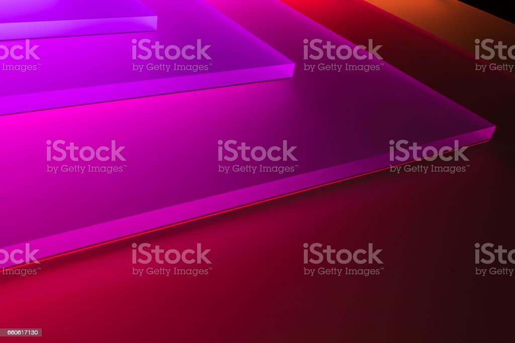 The neon light in a dark room royalty-free stock photo
