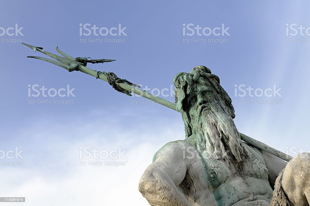 The Neptun fountain in Berlin, Germany royalty-free stock photo