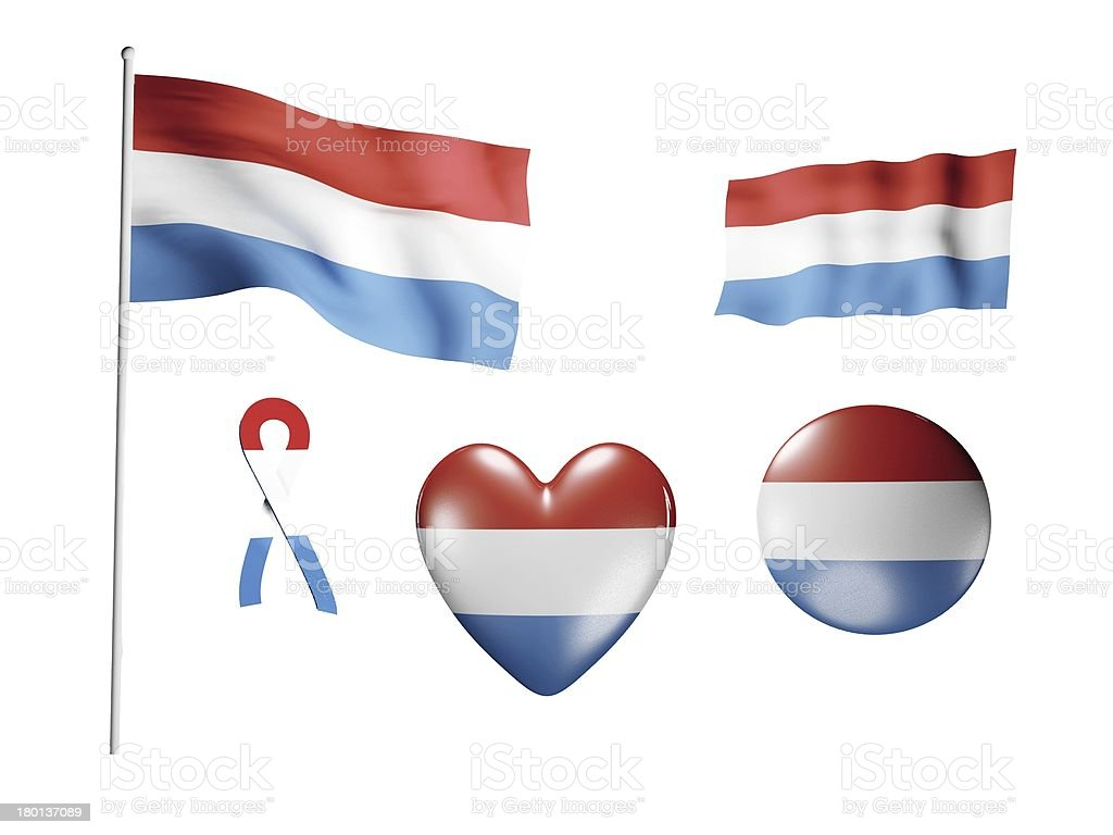 The Netherlands flag - set of icons and flags royalty-free stock photo