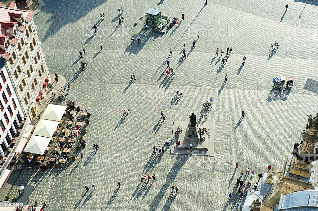 The Neumarkt  square, Dresden stock photo