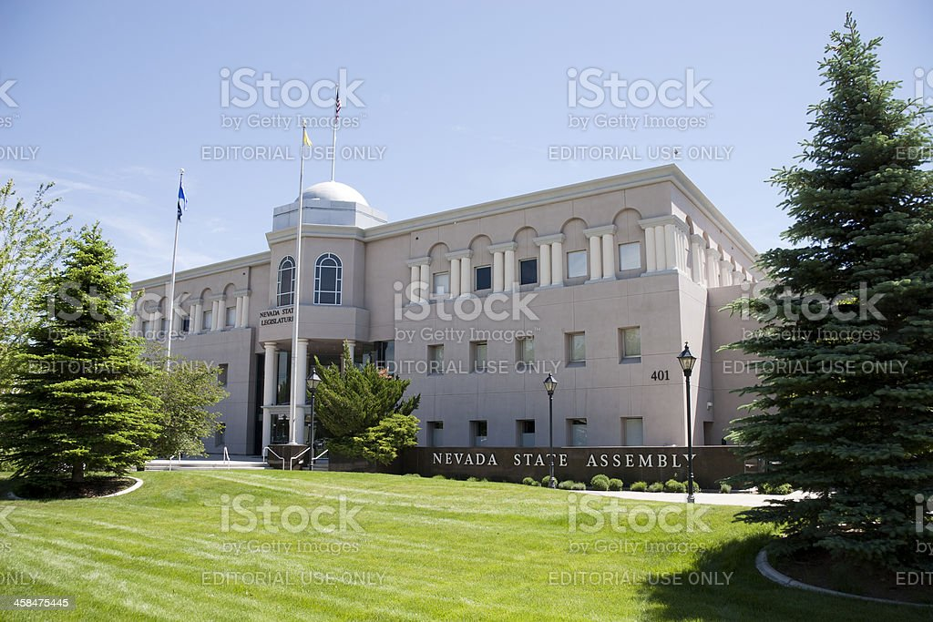 The Nevada state assembly building royalty-free stock photo