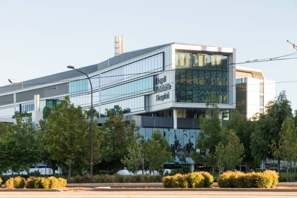 The new building of Royal Adelaide Hospital in North Terrace, South Australian capital city CBD stock photo