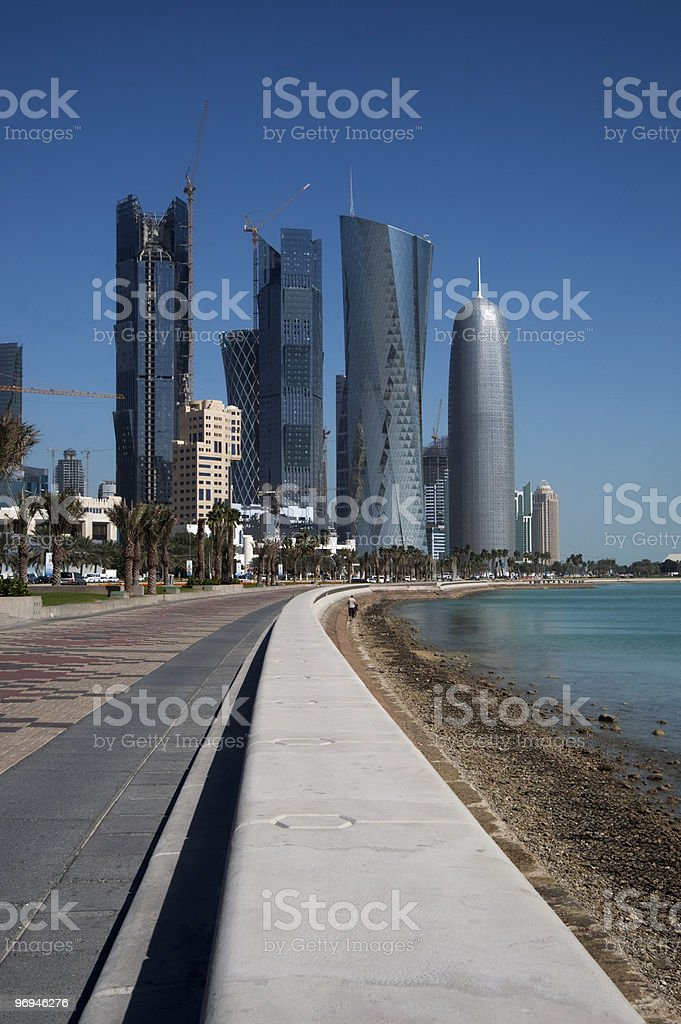 The new buildings in Doha royalty-free stock photo