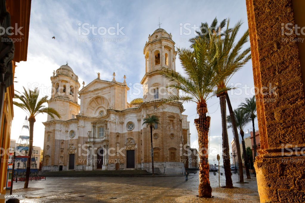 The New Cathedral, Cadiz, Spain stock photo