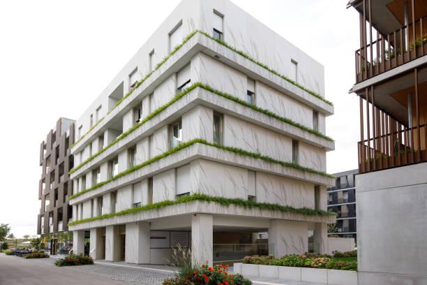 Der neue Stadtblock entstand mit architektonischer, technischer Innovation und Landschaftsgestaltung während der BUGA Heilbronn Bundesgartenschau 2019 – Foto