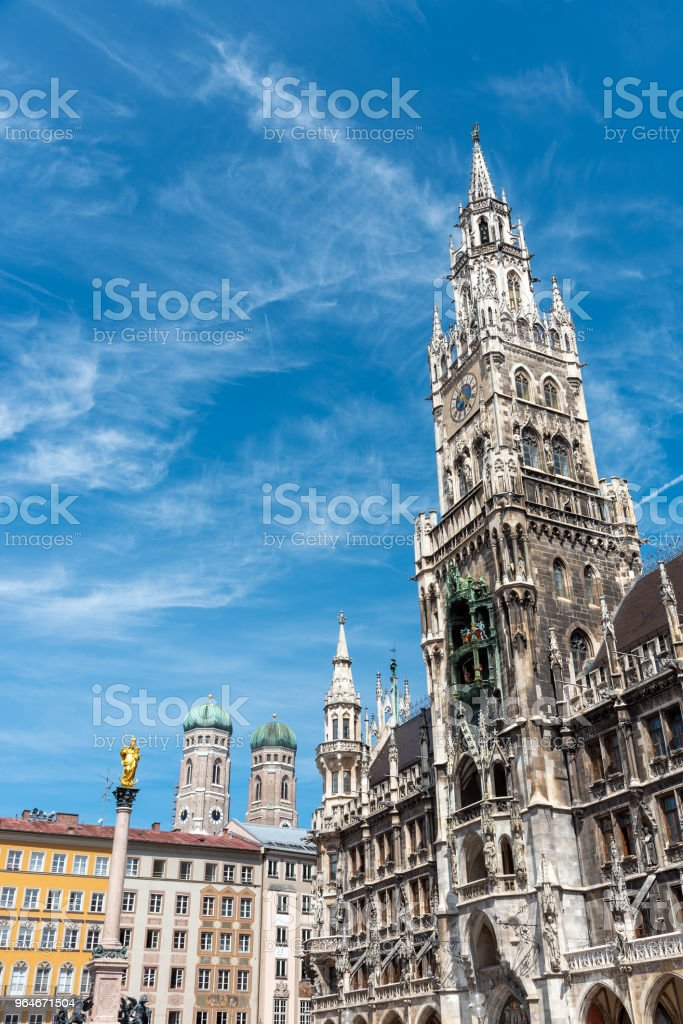 The New City Hall at the Marienplatz in Munich royalty-free stock photo