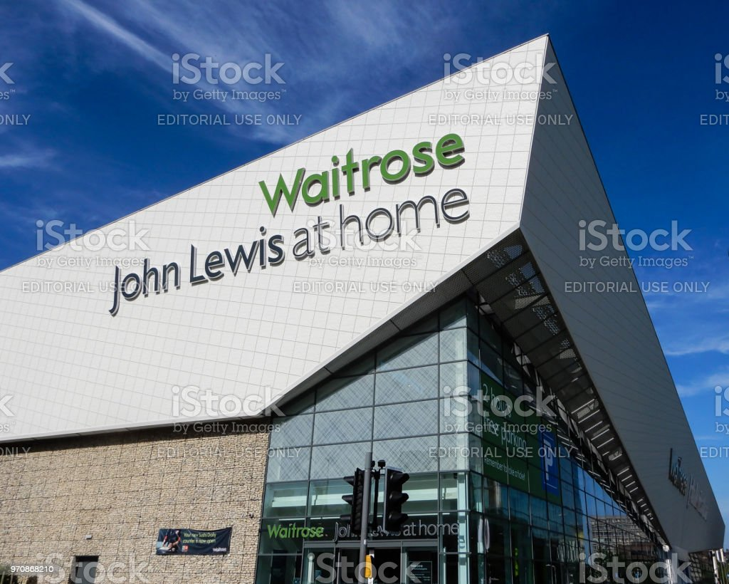 The new combined Waitrose supermarket and John Lewis home superstore on Churchill Way stock photo