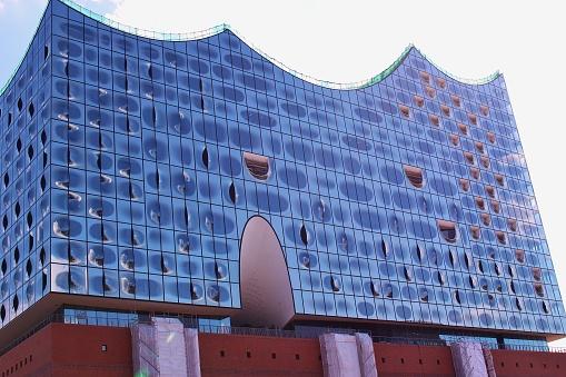 The new concert hall Elphilharmonie in Hamburg, Germany.