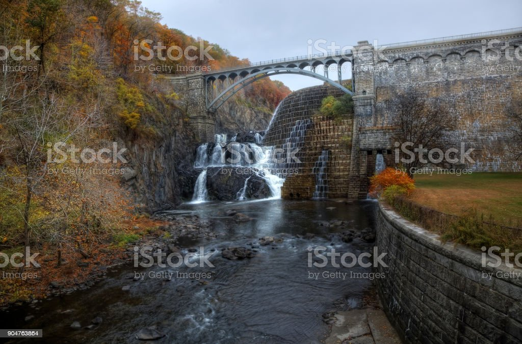 The New Croton Dam and Water Falls stock photo
