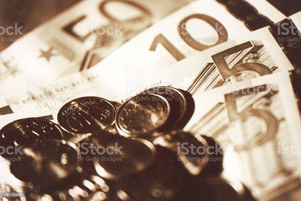 the new Euros royalty-free stock photo