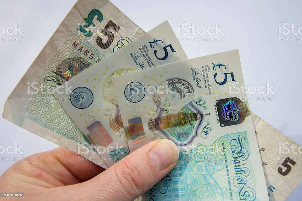 The New Fiver stock photo