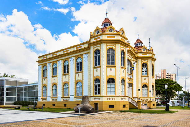 The new Historical Museum of Itajaí in Sata Catarina, Brazil. stock photo