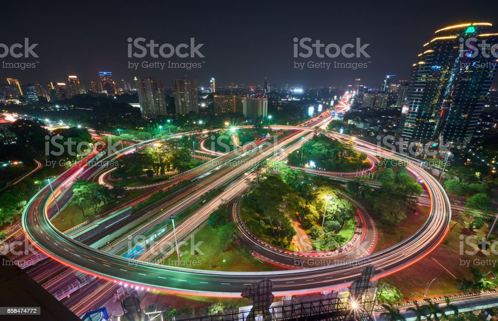 The New Simpang Susun Semanggi Jakarta stock photo