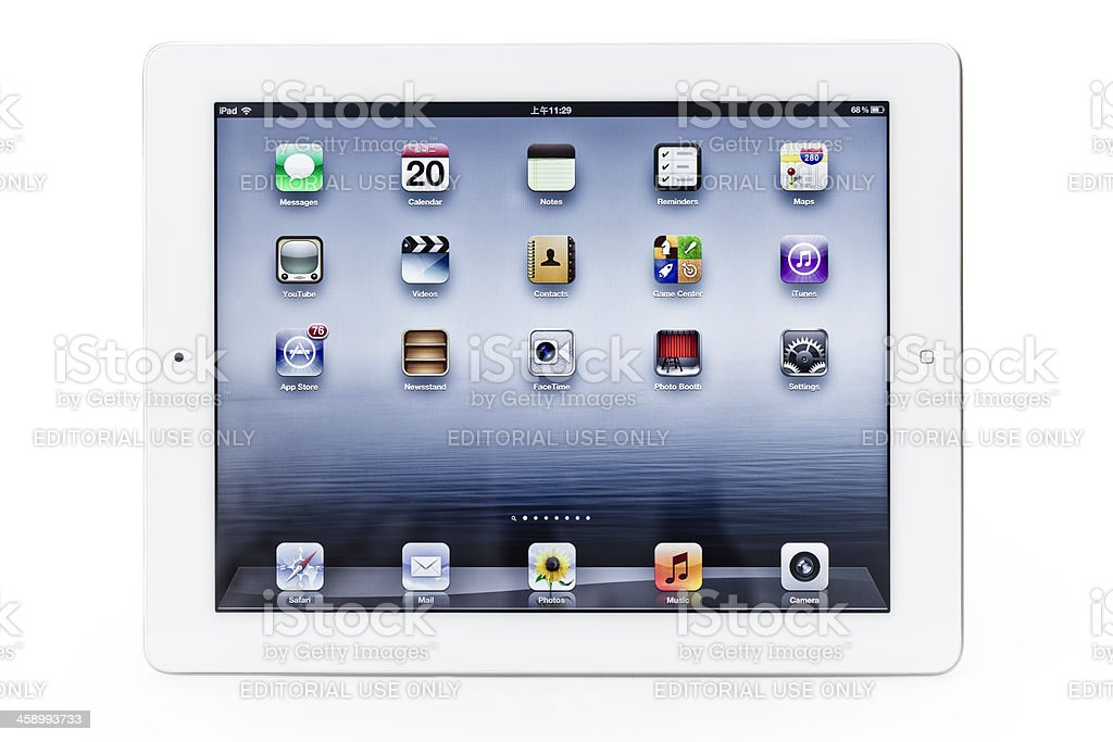 The New iPad 3 royalty-free stock photo