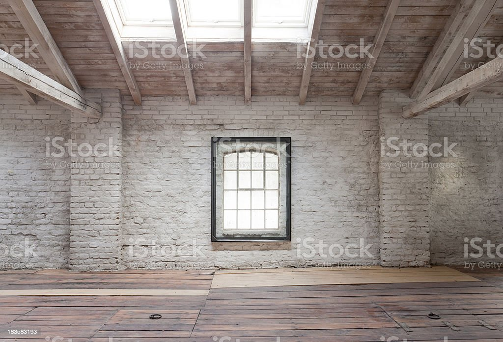 the new loft under the roof royalty-free stock photo