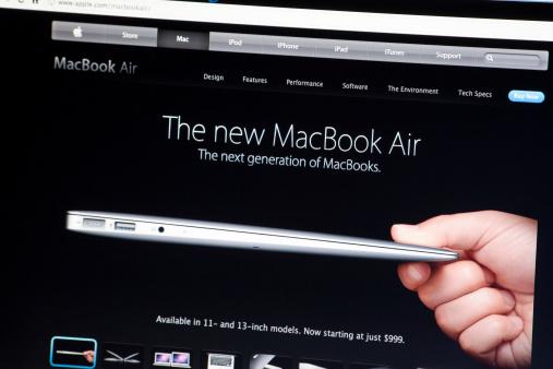The New MacBook Air on Apple.com Website