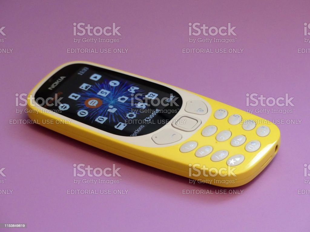 The New Nokia 3310 Feature Phone Issued In 2017 On A Pink Background Stock Photo Download Image Now Istock