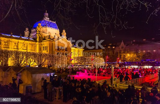 istock The new outdoor ice skating rink on King Tomislav square 502756820
