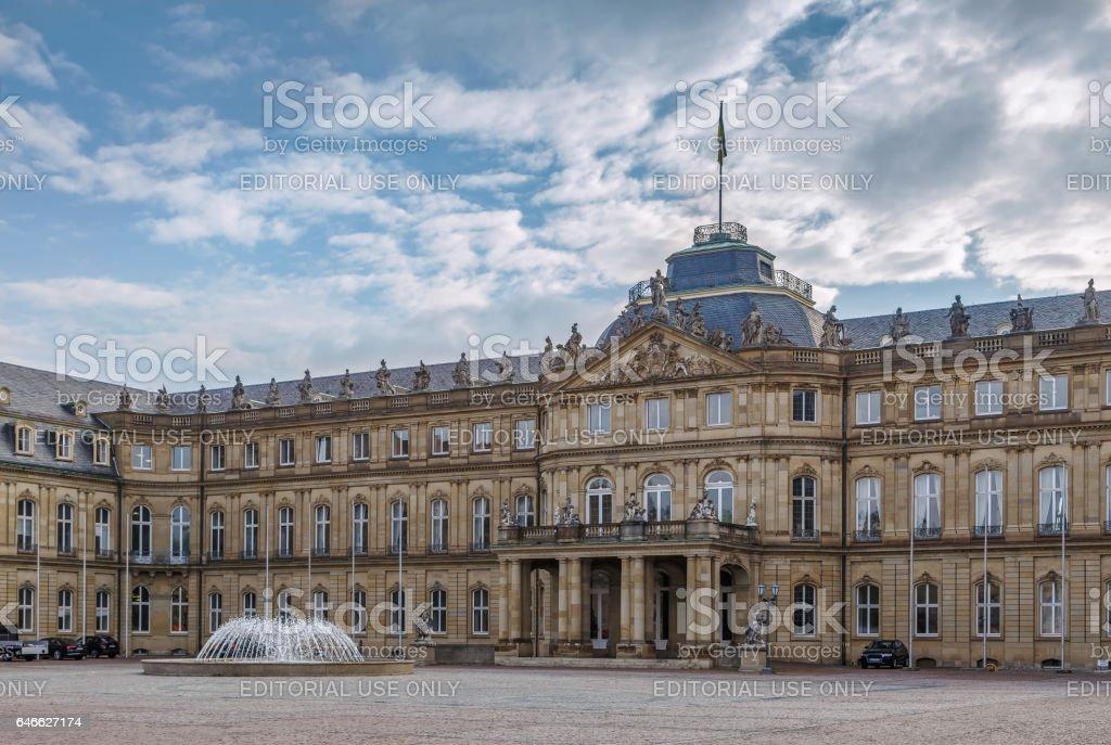 The New Palace, Stuttgart, Germany stock photo