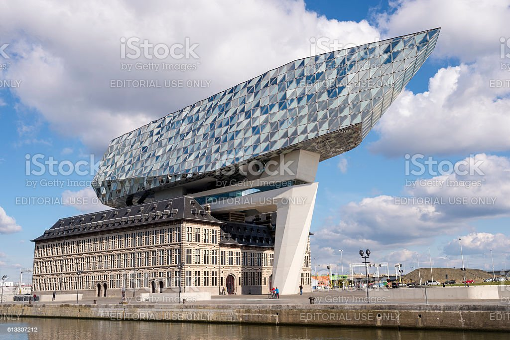 The new Port House of Antwerp stock photo
