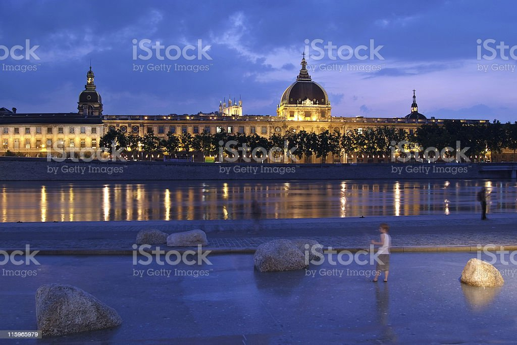 The new Rhone bank in Lyon (France) royalty-free stock photo