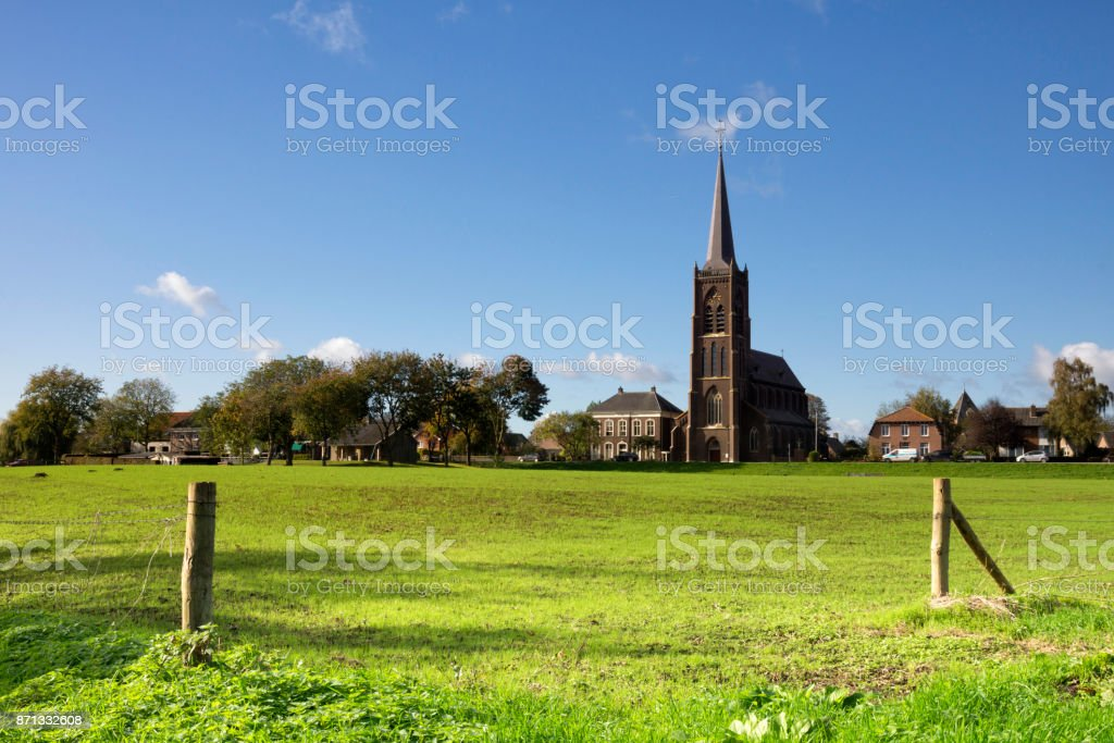 The New Siant Victor church stock photo