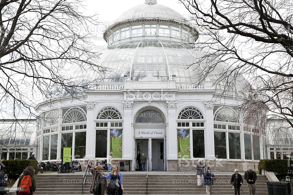 The New York Botanical Garden in NYC royalty-free stock photo