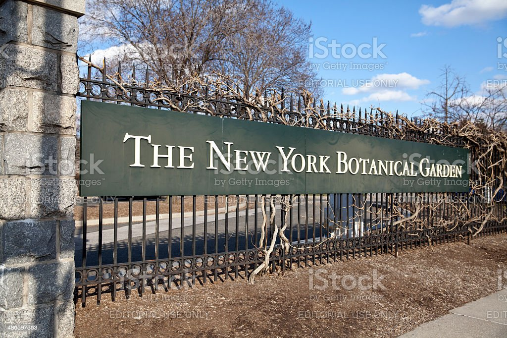 The New York Botanical Garden in NYC stock photo