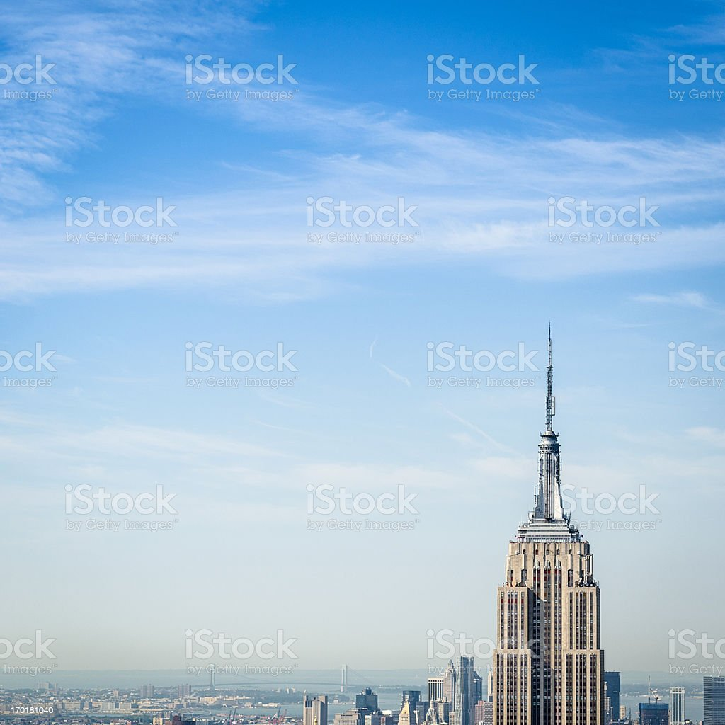 The new york city empire state building tower royalty-free stock photo