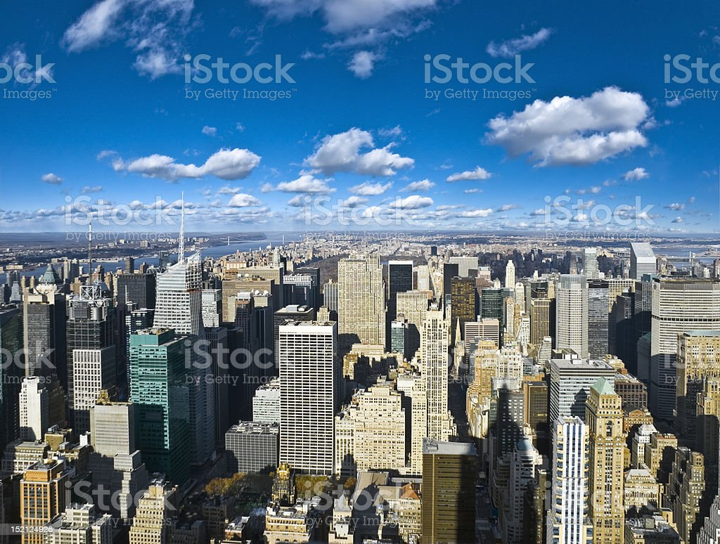 The New York City panorama royalty-free stock photo