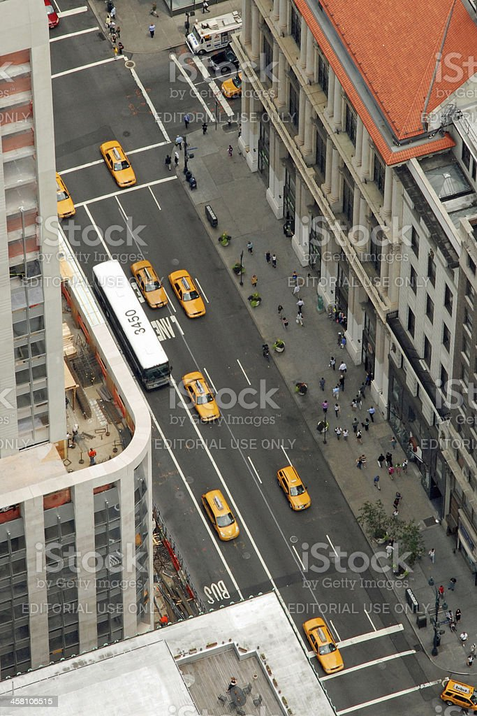 The New York City Taxi royalty-free stock photo
