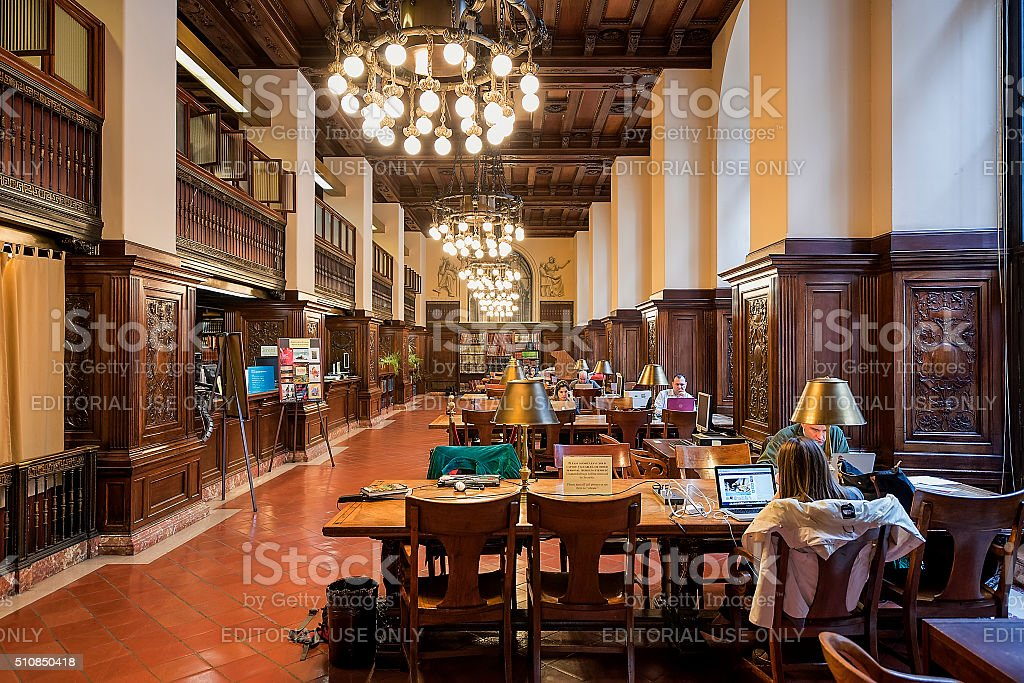 The New York Public Library stock photo
