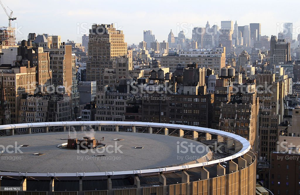 The New York skyline in the afternoon royalty free stockfoto