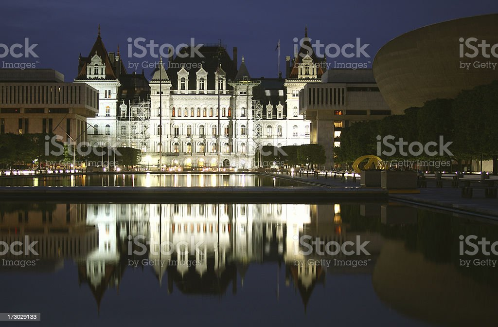 The New York State Capitol royalty-free stock photo