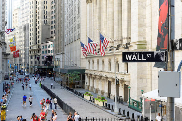 The New York Stock Exchange on the Wall street. stock photo