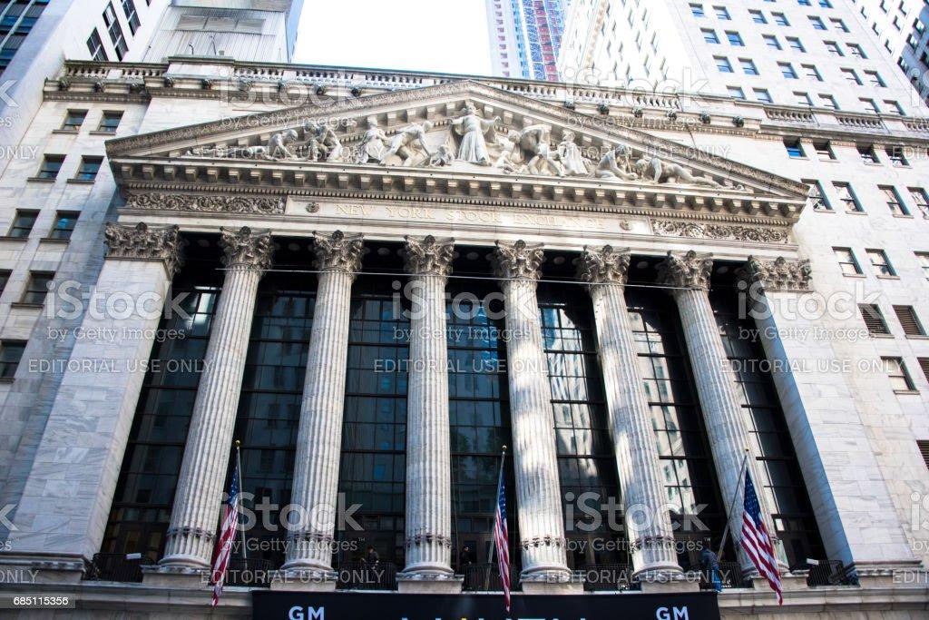 The New York Stock Exchange royalty-free stock photo
