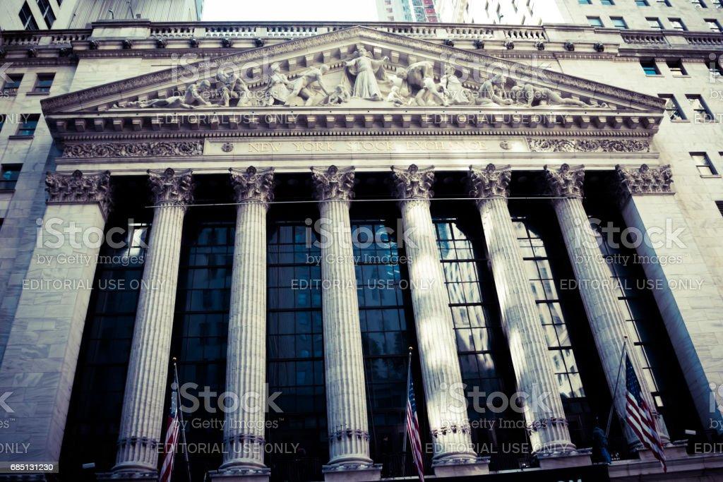 The New York Stock Exchange stock photo