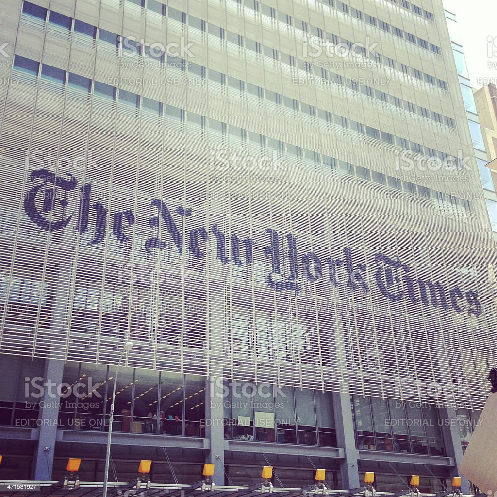The New York Times Building stock photo