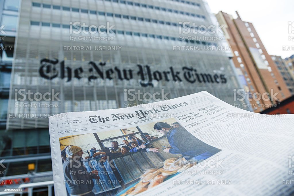 The New York Times Newspaper And Office Building Manhattan ...
