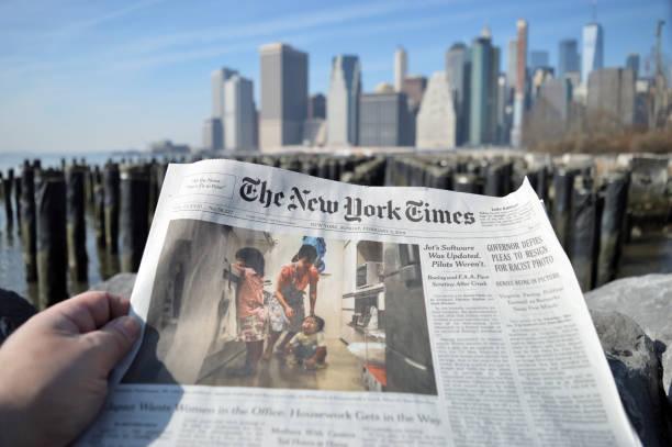 new york times. - new york times stock-fotos und bilder