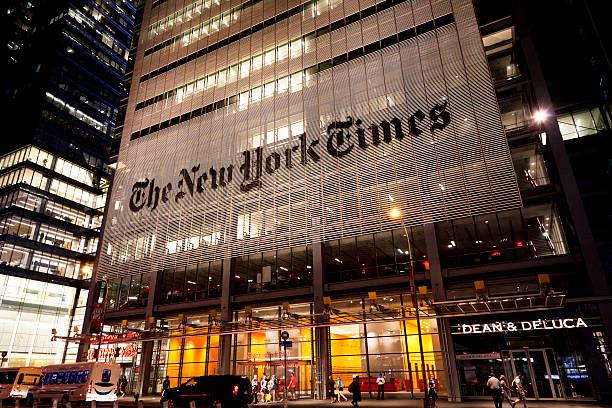 the new york times - new york times stock-fotos und bilder