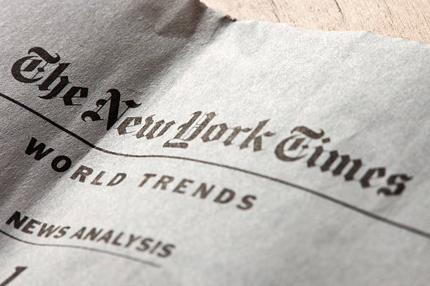 The New York Times weekly edition in Delo newspaper stock photo