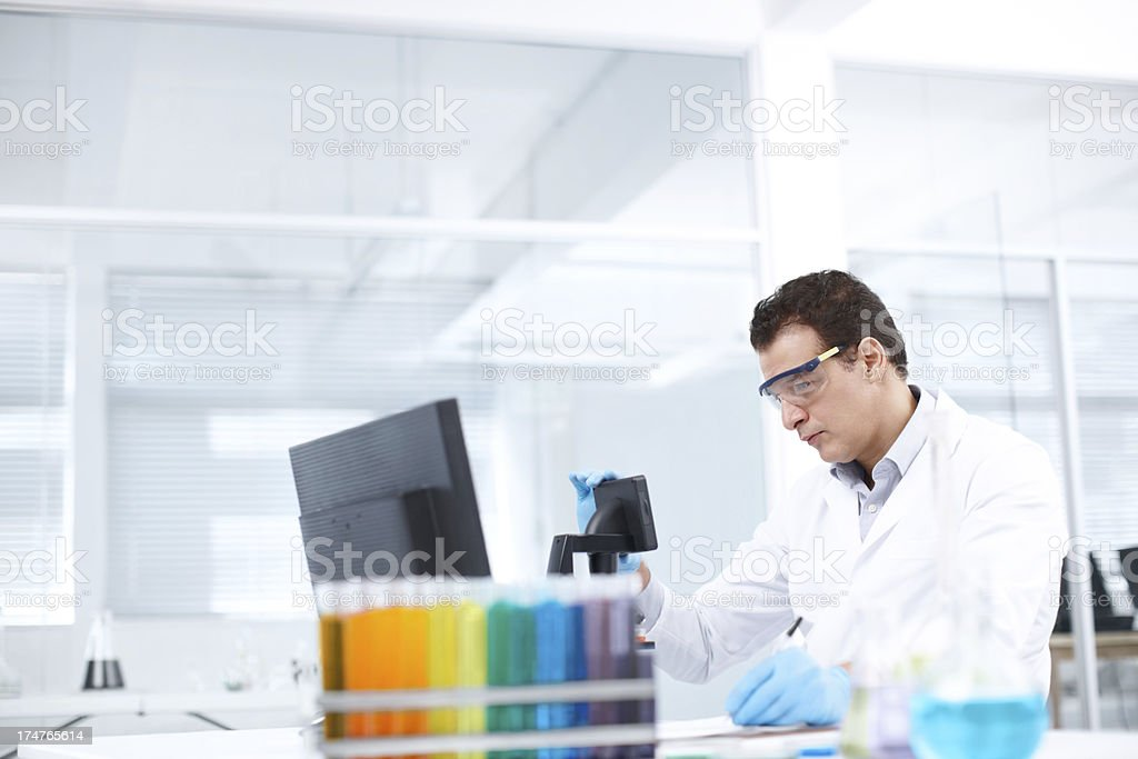 The newest technology improves research possiblilies royalty-free stock photo