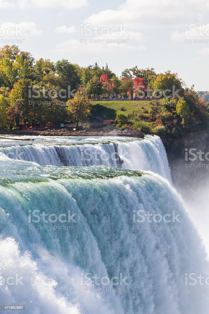 The Niagara Falls Usa And Canada Border Stock Photo